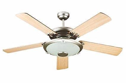 Plafoniere Con Pale : Kooper ventilatore a soffitto con pale legno luce e