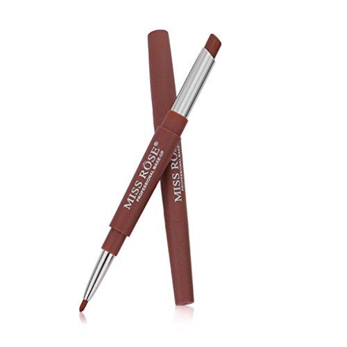 Lipsticks Make Up,ROSE Double-end Lasting Lipliner Waterpr