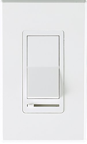 Cloudy Bay In Wall Dimmer Switch For LED Light/CFL/Incandescent,3-way Single Pole Dimmable Slide,600 Watt max,Cover Plate ()