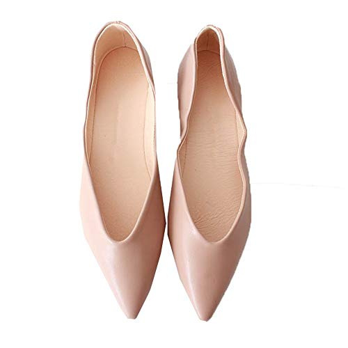 maternity temperament comfortable flat FLYRCX mouth shoes simple pointed non C shoes shoes work foldable Fashion shallow shoes slip qnwCORv