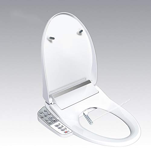 JENYS JS300 Elongated Bidet Seat with Side Key Panel|Air Warm Dryer|Stainless-Steel Nozzle|Nightlight|Nozzle Oscillation|Adjustable Heated Seat and Water