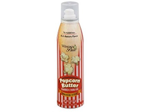 Winona Pure Popcorn Butter, Theater Style 5 Ounce (2-Pack)   Delicious Popcorn Spray with 0 Calories per Serving, Perfect for Popcorn Lovers
