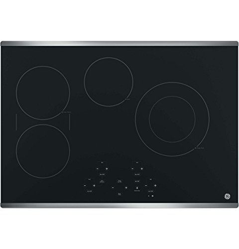 (GE JP5030SJSS 30 Inch Smoothtop Electric Cooktop with SyncBurner, Keep Warm, Digital Touch Controls, 4 Radiant Elements, Built-in Timer, Melt Setting, ADA Compliant Fits Guarantee)