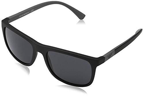 Emporio Armani EA4079 504287 Matte Black EA4079 Square Sunglasses Lens ()