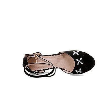 LvYuan Mujer Sandalias Confort Tira en el Tobillo Suelas con luz Semicuero Verano Vestido Fiesta y NocheConfort Tira en el Tobillo Suelas con blushing pink