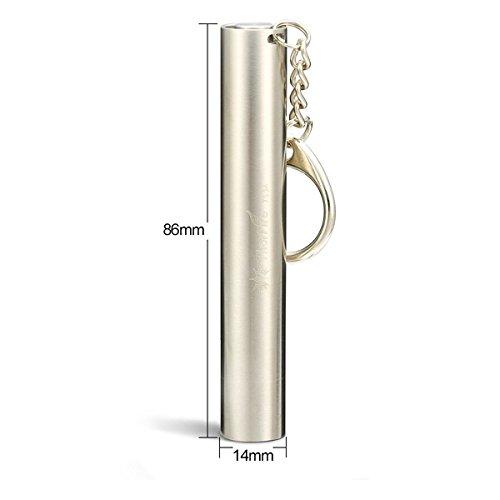 ThorFire TS3A 3Modes Stainless Steel Pocket Mini LED Keychain Flashlight AAA