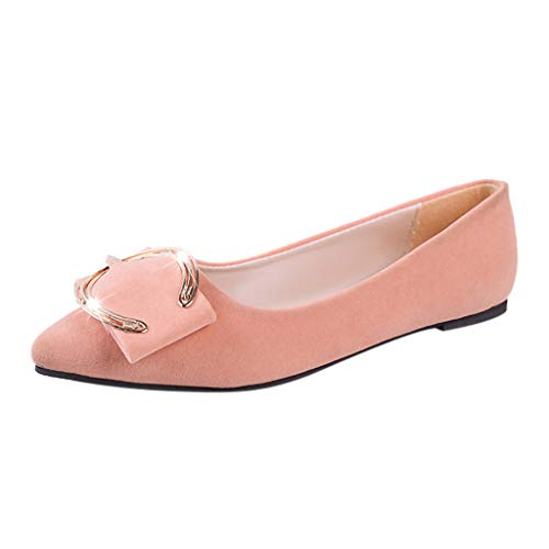 Women's Slip-On Ballet Shoes Soft Solid Pointed Toe