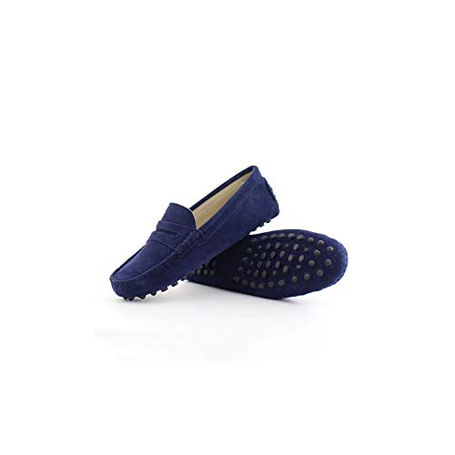 Shoes Women Leather Women Flat Shoes Casual Loafers Slip On Women's Flats Shoes Moccasins Lady Driving Shoes,Navy Blue,9 (Synonyms For The Best Ever)