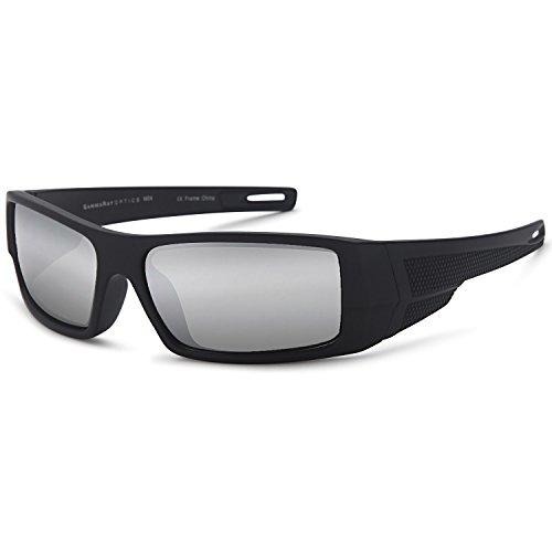 - GAMMA RAY OPTICS Polarized Sunglasses Sport Wrap Mirror Lens