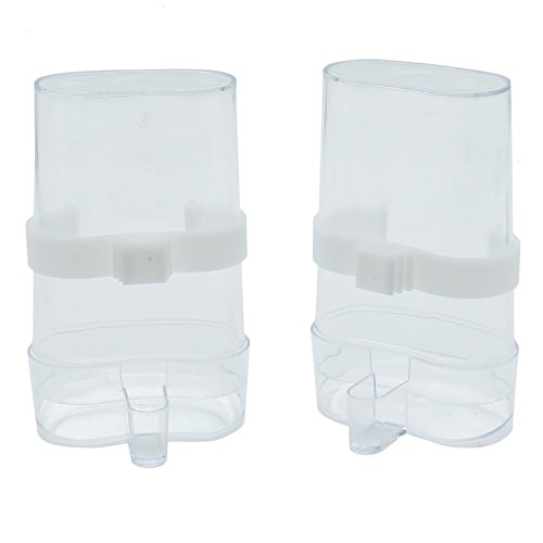 RTNOW Bird Feed Water Dispenser for Parrot Budgies Parakeet Cockatiels Conure Lovebirds Finch African Greys, 2 Pack by RTNOW