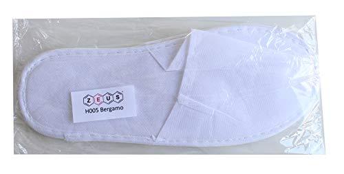 Spa Bergamo Viaggio 40 Ciabatta Misura Cm B Hotel Pantofola Monouso Mm Paia Colore Bianco Per amp;b 3 28 Suola Zeus 2 Chiusa Ospiti Adatta qRBntxwvv