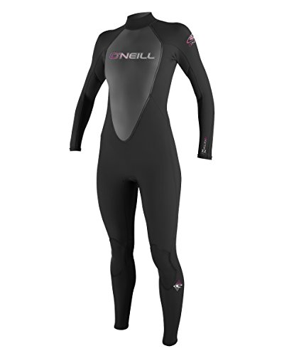 O'Neill Wetsuits Womens 3/2 mm Reactor Full Suit, Black, - Full Womens Wetsuits