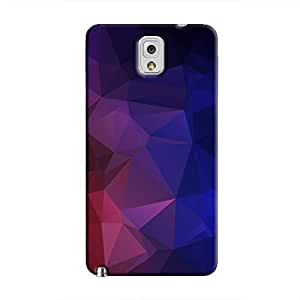 Cover It Up - Dark Violet Red Pixel Triangles Samsung Galaxy Note 3 Hard Case