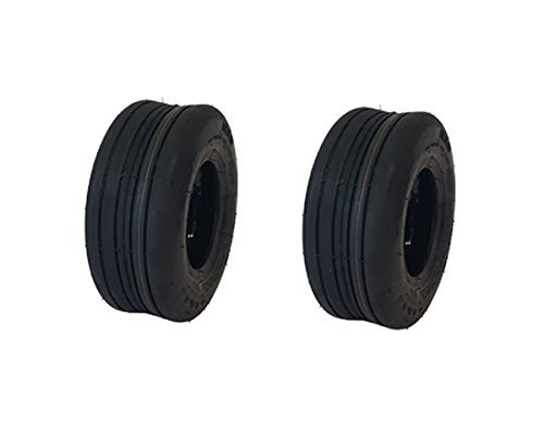 (2) Puncture Resistant 13x5.00-6 Ribbed Tire with Liner Gravely Hustler Toro