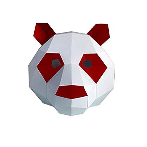 MMMMM Face mask Shield Veil Guard Screen Domino False Front Panda caps mask Origami Party Creative mask red Eye,1]()