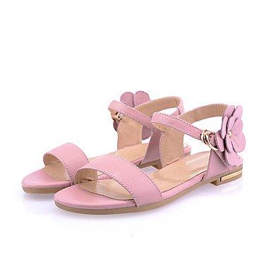 LvYuan Mujer-Tacón Plano-Otro-Sandalias-Oficina y Trabajo Vestido Informal-PU-Rosa Verde Claro Pink
