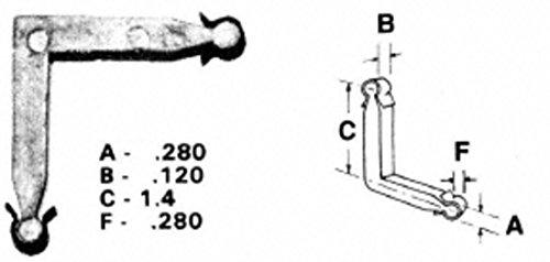 Zinc Window Corners Storm (CRL Zinc Die-Cast Storm Window Corner Key- 1.4; Leg; .120; Width- Package of 20 3465101)