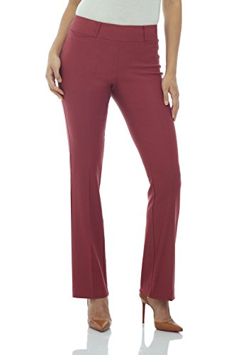 Rekucci Women's Ease in to Comfort Fit Barely Bootcut Stretch Pants (18,Desert Rose)