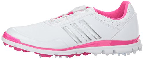 Pictures of adidas Women's Adistar Lite BOA Golf Q4497132 White/Silver Metallic/Shock Pink 5