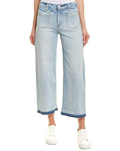 Hudson Jeans Women's Holly HIGH Rise Wide Leg Crop RAW Hem Jean, Frame of Mind, 28