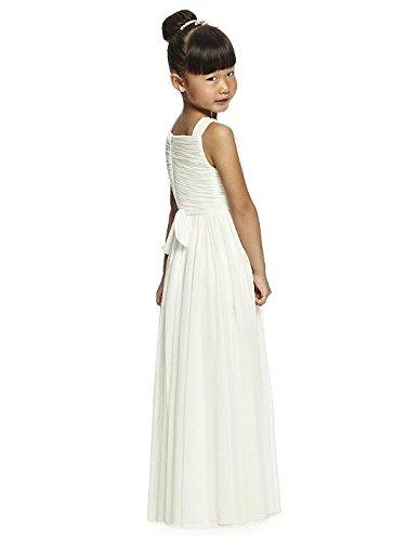 0dc1e2197a5 Amazon.com  Alivedre Ruched Chiffon Junior Flower Girl Dress Girls Wedding  Party Dress  Clothing