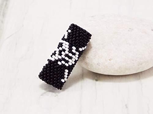 Handmade Halloween dread beads skull hair beads jewelry dread accessories hair jewelry for braids beaded hair wrap loc jewelry
