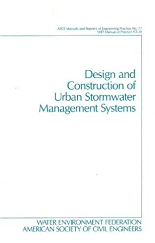 amazon com design and construction of urban stormwater management rh amazon com ASCE Construction Manual ASCE Loads Manual
