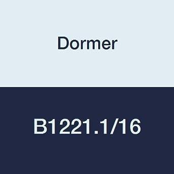 Head Diameter 1.0625 Flute Length 4.1//2 Full Length 6.7//8 Dormer B1221.1//16 Straight Car Reamer ST//Bronze Coating High Speed Steel