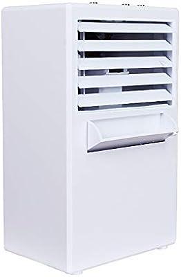 CAOQAO Mini Aire Acondicionado portátil Mini humidificador de Ciclo de enfriamiento por evaporación de Aire con Ventilador de Aire Acondicionado: Amazon.es: Hogar