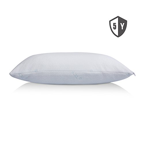 Shredded-Memory-Foam-Pillow-For-Sleeping-Cervical-Certipur-Cooling-Hypoallergenic-antimicrobial-Orthopedic-Ergonomic-Pillow-washable-removable-cover-Design-in-USA-by-Polar-Sleep-Standard-Size