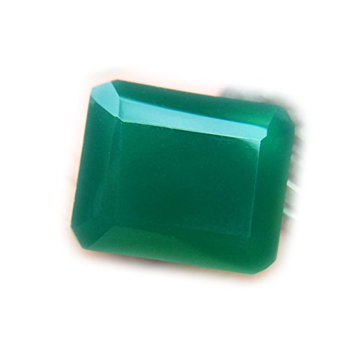 Lovemom 6.67ct Natural Octagon Unheated Green Chalcedony Africa #R by Lovemom