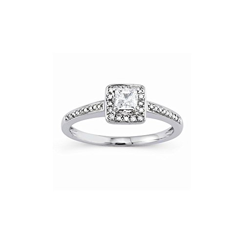 14k Semi-Mounting Wg Engagement Ring, No Center Stone Included (Mountings Wg 14k)