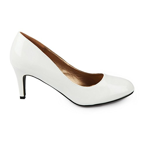 De Diseño Pintauñas Clásica Para Piel sandalias Mujeres Blanco Sintética Tipo Modeuse La xwpHYRqp