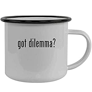 got dilemma? - Stainless Steel 12oz Camping Mug, Black