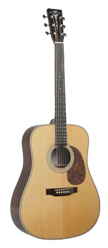 Recording King RD-126-FE2 Classic Series Dreadnought Acoustic-Electric Guitar with Herringbone (Recording King Classic Series)