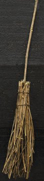Natural Vine Twig Broom Branch Handle Country Primitive Décor