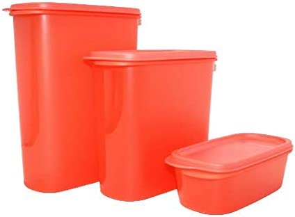 NewTupperware Modular Mates Oval Easy Pantry Container Set of 3 Watermelon