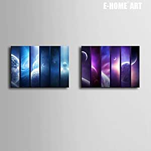 "PitengTM lienzo arte universo pintura decorativa Set de 2, 20"" x 28"""