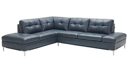 (Leonardo Premium Left Hand Facing Sectional Sofa with Storage in Blue)