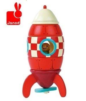 Amazon.com: Montaje Puzzle de madera juguete Rocket ...