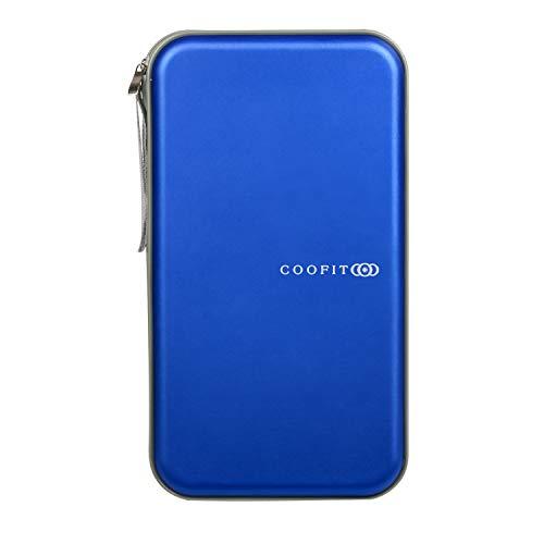 COOFIT DVD Storage CD Case CD Storage DVD Case CD Holder DVD Holder CD Wallet 60 Capacity Blue