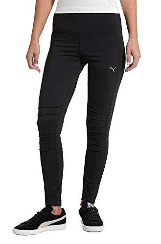 PUMA Ladies Moto Tights Leggings (Black/Gold, Small) ()