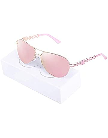 db9173249eca Aviator Sunglasses For Women Metal Frame Mirrored Sunglasses