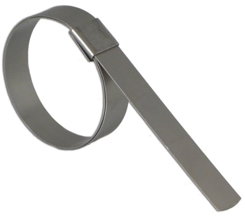 BAND-IT CP1299 5/8'' Wide x 0.025'' Thick 3'' Diameter, Galvanized Carbon Steel Center Punch Clamp (50 Per Box) by Band-It