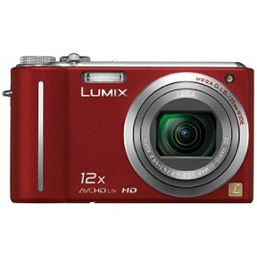Panasonic Lumix DMC-ZS3 10MP Digital Camera with 12x Wide Angle MEGA Optical Image Stabilized Zoom and 3 inch LCD (Red) (Panasonic Camera Av Cable)
