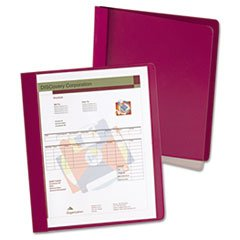 Oxford Extra-Wide Clear Front Report Covers, Letter Size, Red, 25 per Box (5354050X)