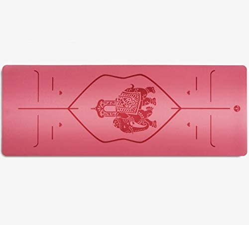 Eco friendly 極厚パッド/ポータブル-ヨガ、ピラティス、ストレッチ、瞑想、床、フィットネス用の滑り止めコンフォートパッド exercise (色 : Red)