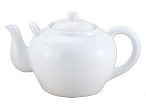 HIC Porcelain 16-ounce Porcelain Teapot with Infuser White