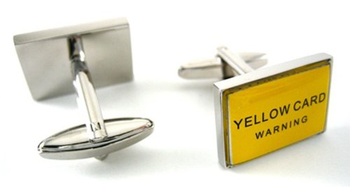 Red & Yellow Soccer Card Cufflinks
