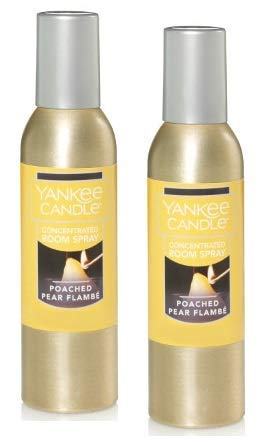 - Yankee Candle 2 Pack Poached Pear Flambe Concentrated Room Spray 1.5 oz.